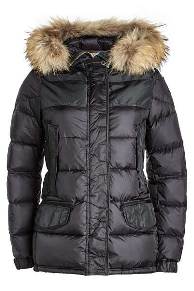 Parajumpers Down Jacket with Fur-Trimmed Hood GOOFASH 275763