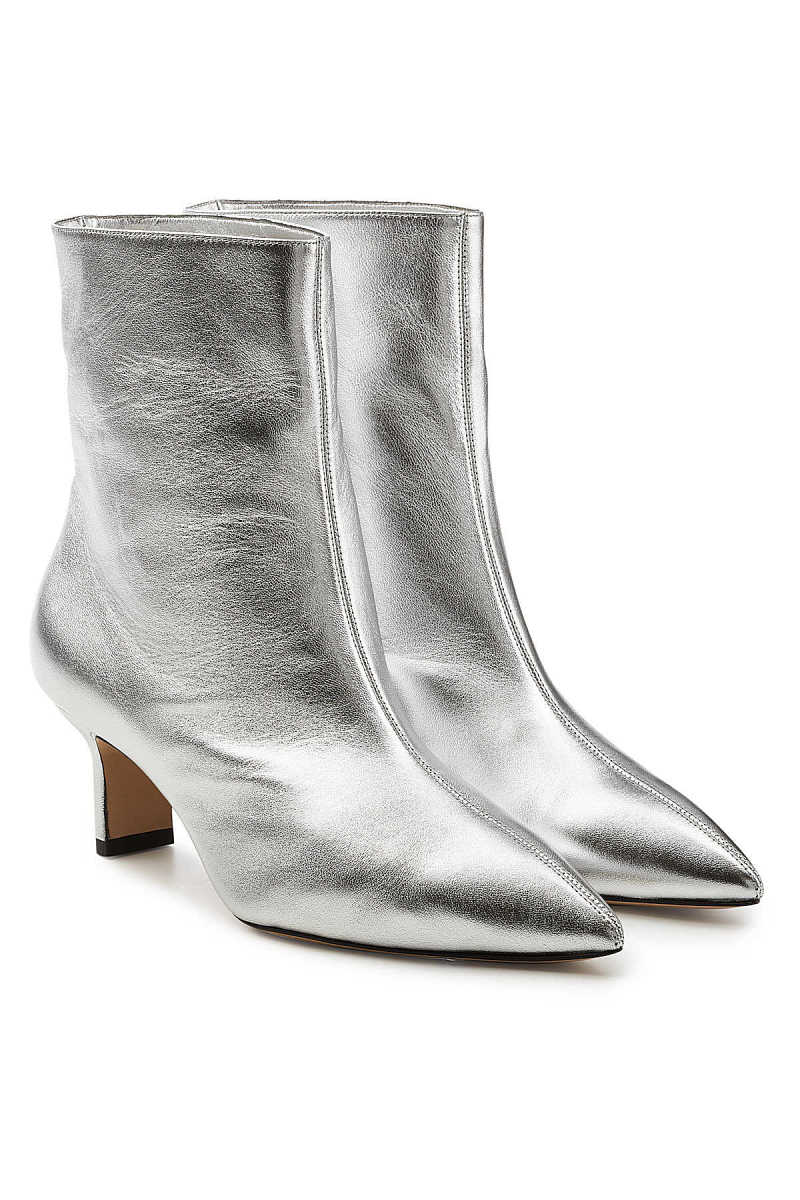 Paul Andrew Mangold Metallic Leather Ankle Boots GOOFASH 281200