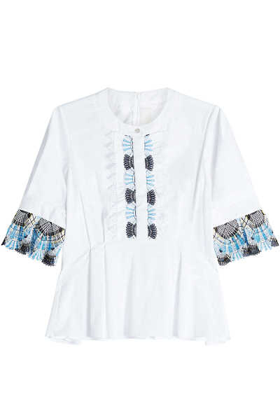 Peter Pilotto Cotton Top with Crochet GOOFASH 261911