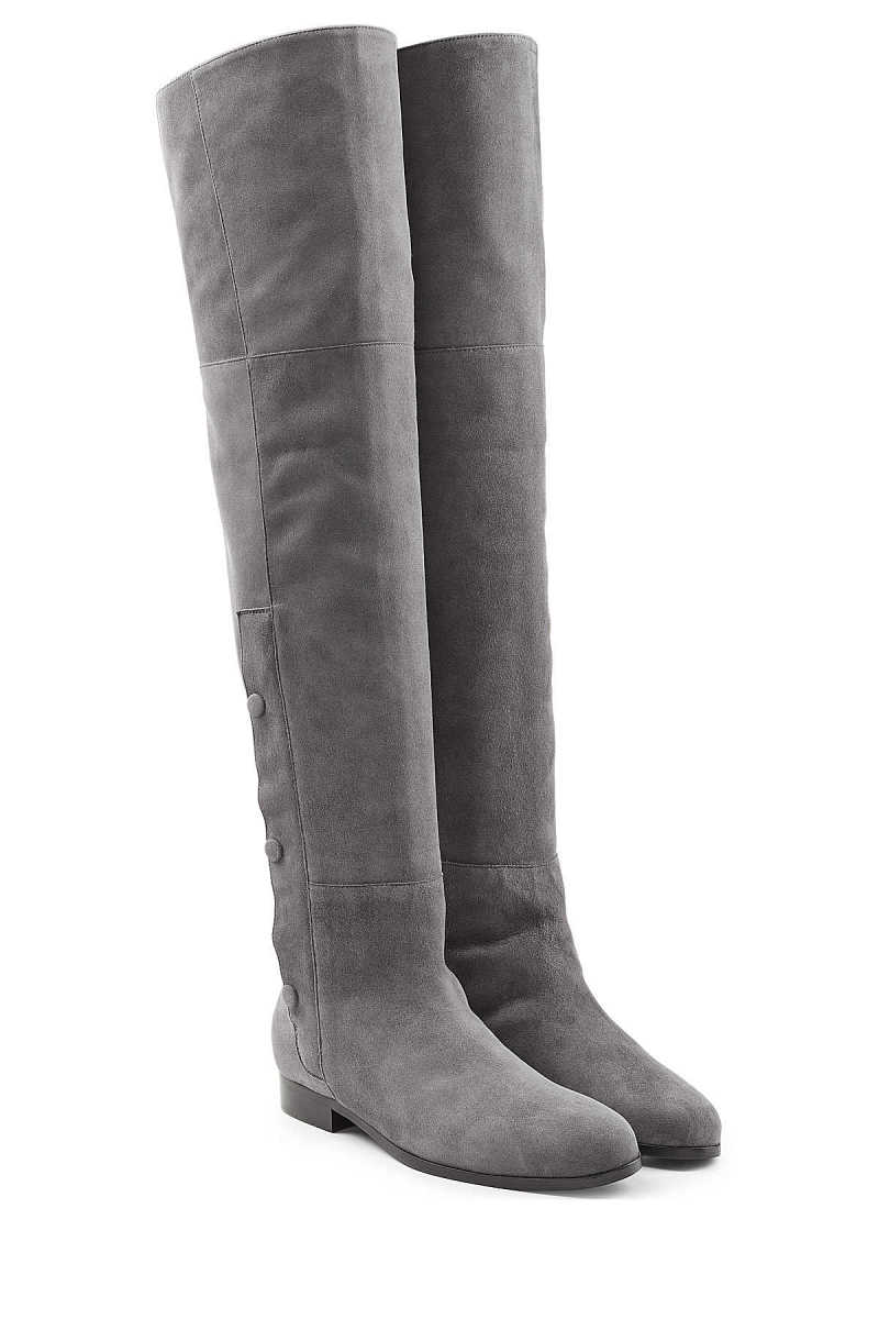 Pierre Hardy Suede Over the Knee Boots GOOFASH 253249