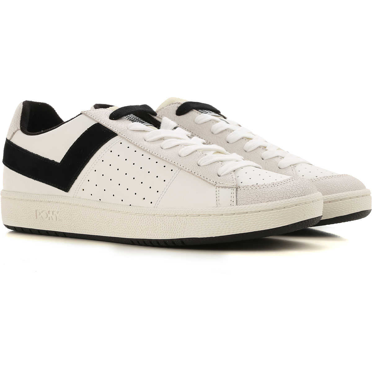 Pony Sneakers for Men, White, Leather