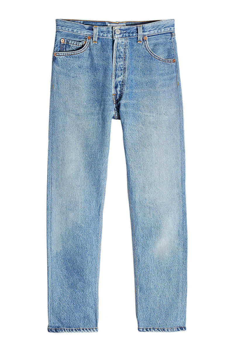 RE/DONE High Rise Ankle Crop Straight Leg Jeans GOOFASH 261146