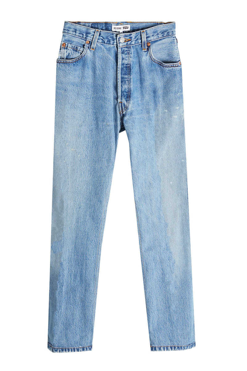 RE/DONE High Rise Ankle Crop Straight Leg Jeans GOOFASH 274018