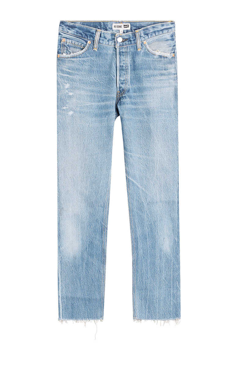 RE/DONE Straight Cropped Jeans GOOFASH 268173