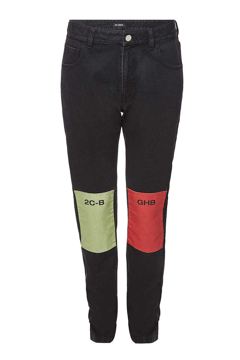 Raf Simons Straight Leg Jeans with Patches GOOFASH 289316