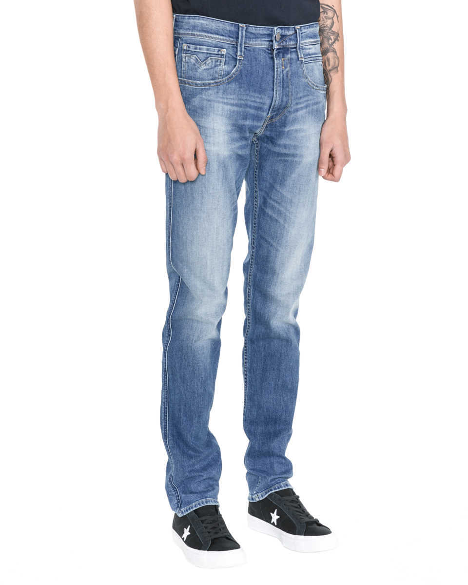 Replay Anbass Jeans Blue GOOFASH 291160