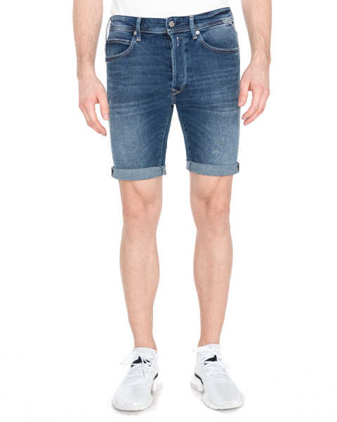 Replay Short pants Blue GOOFASH 298709