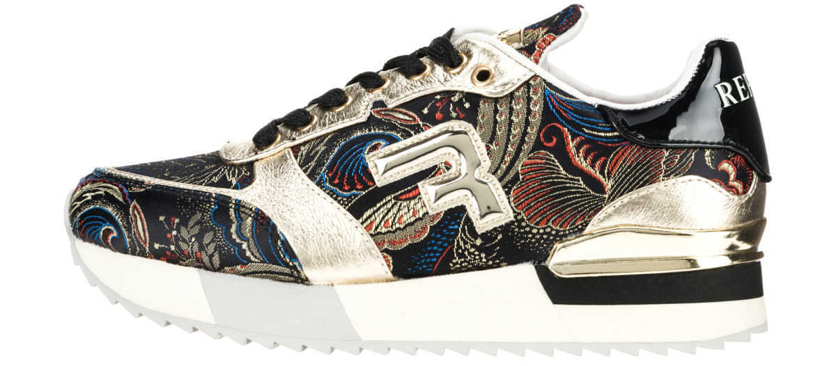 Replay Willwood Sneakers Black Gold Colorful GOOFASH 298082