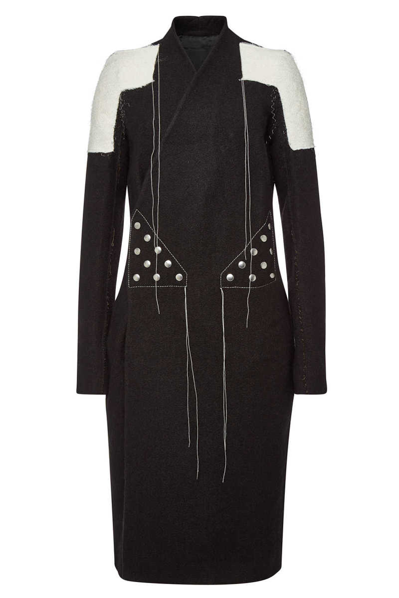 Rick Owens Coat with Wool and Linen GOOFASH 289134