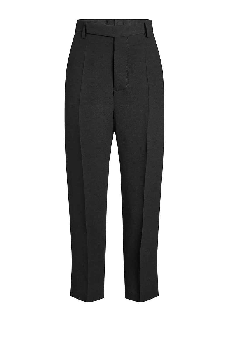 Rick Owens Cropped High-Waist Pants with Wool GOOFASH 273853