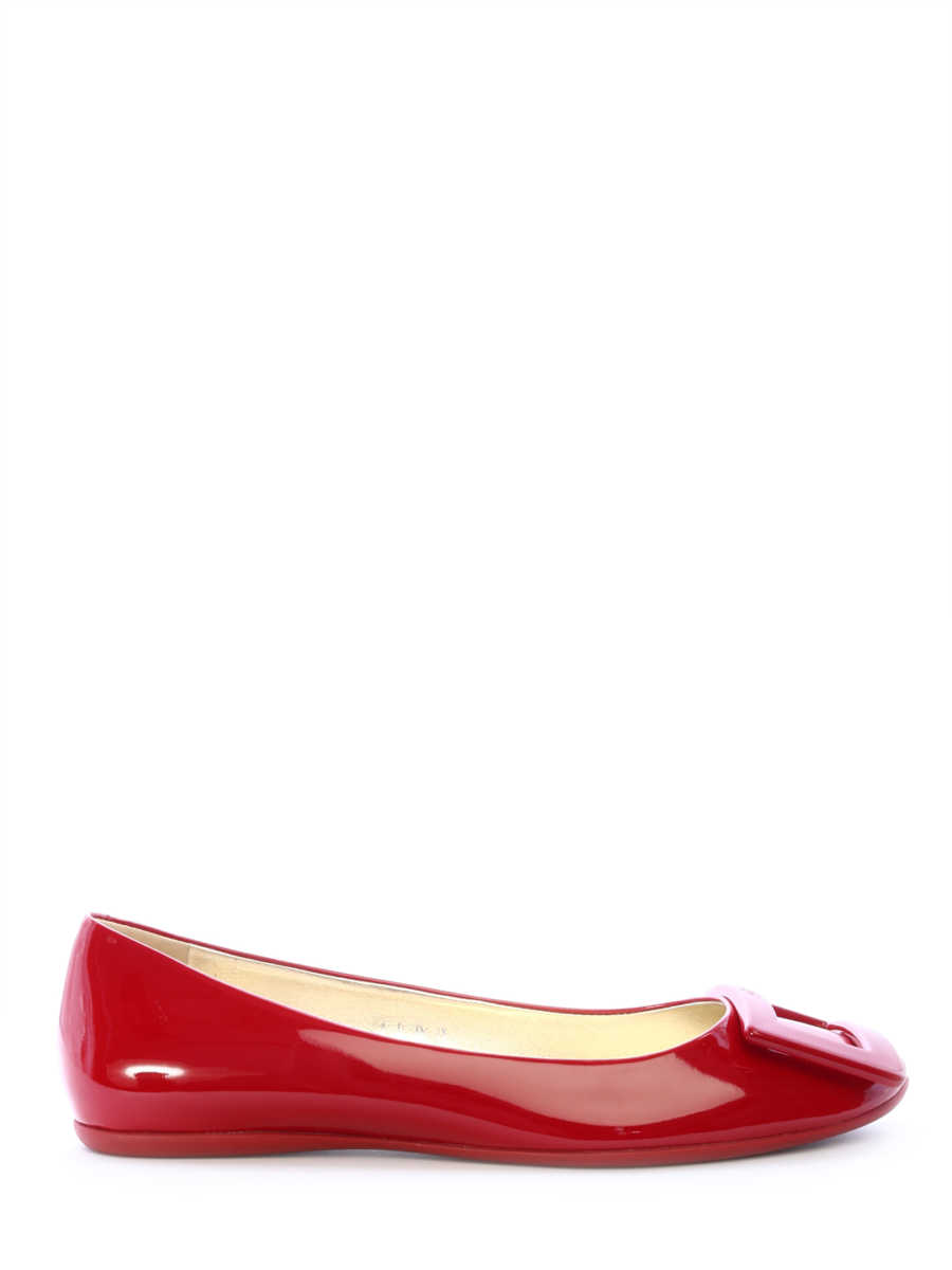 Roger Vivier Ballt Shoes Red Patent Red - Leam - GOOFASH