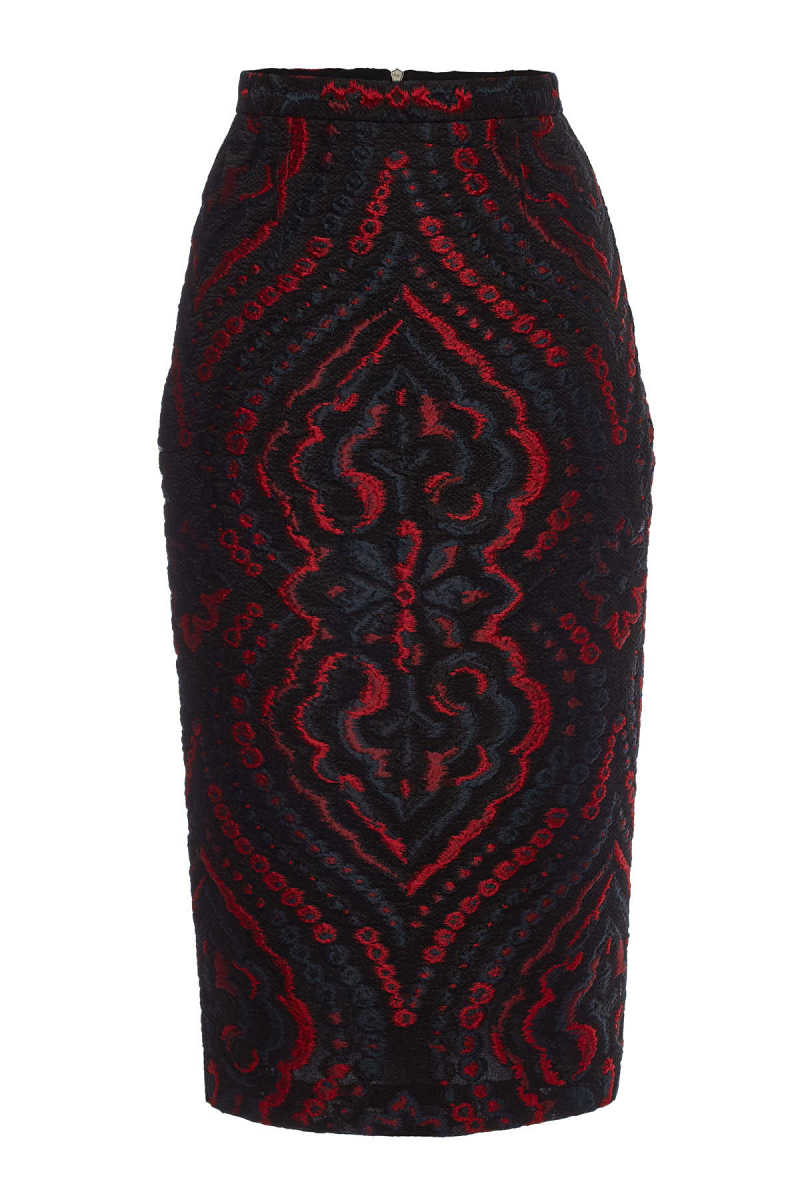 Roland Mouret Norley Skirt with Silk and Cotton GOOFASH 292605