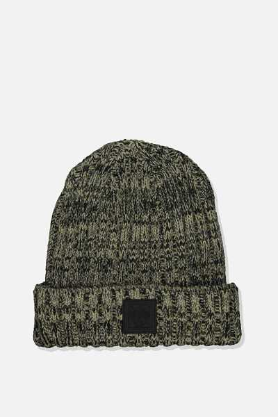 Rubi - Take A Hike Beanie - Khaki mix - Cotton On - GOOFASH