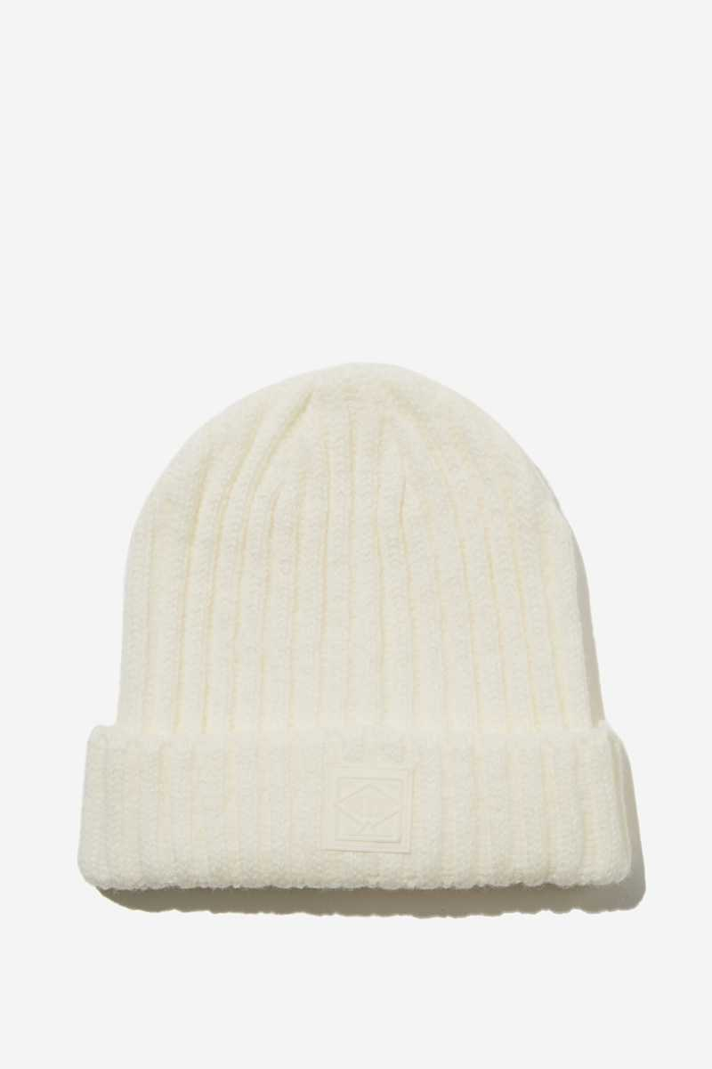 Rubi - Take A Hike Beanie - Winter white - Cotton On - GOOFASH