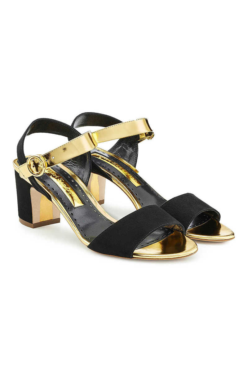 Rupert Sanderson Suede and Leather Sandals GOOFASH 264924