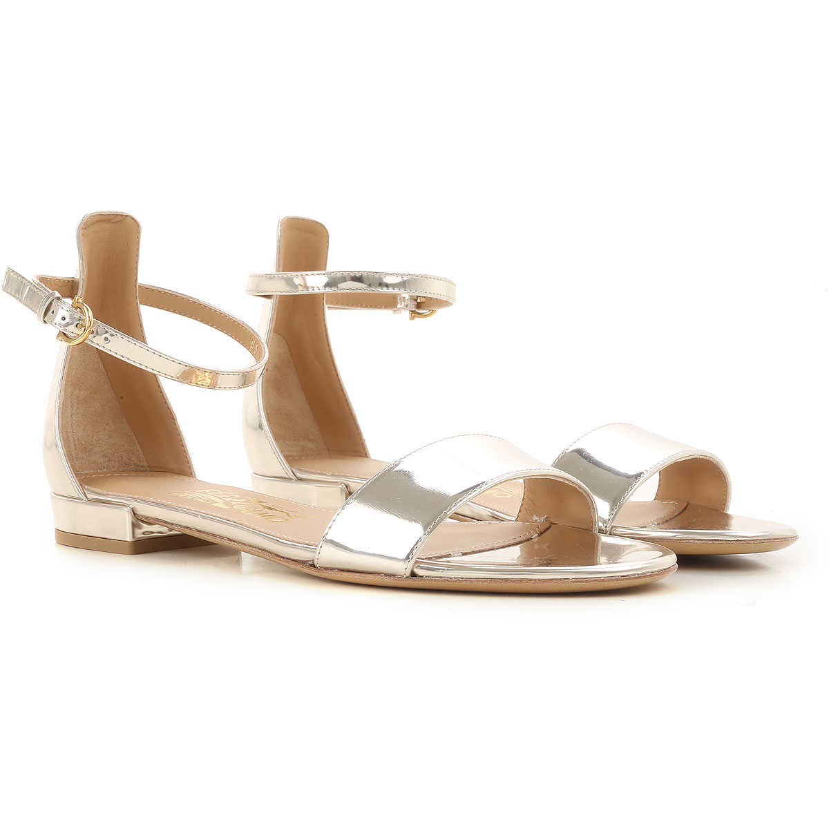 Outlet, Golden, Metallic Leather