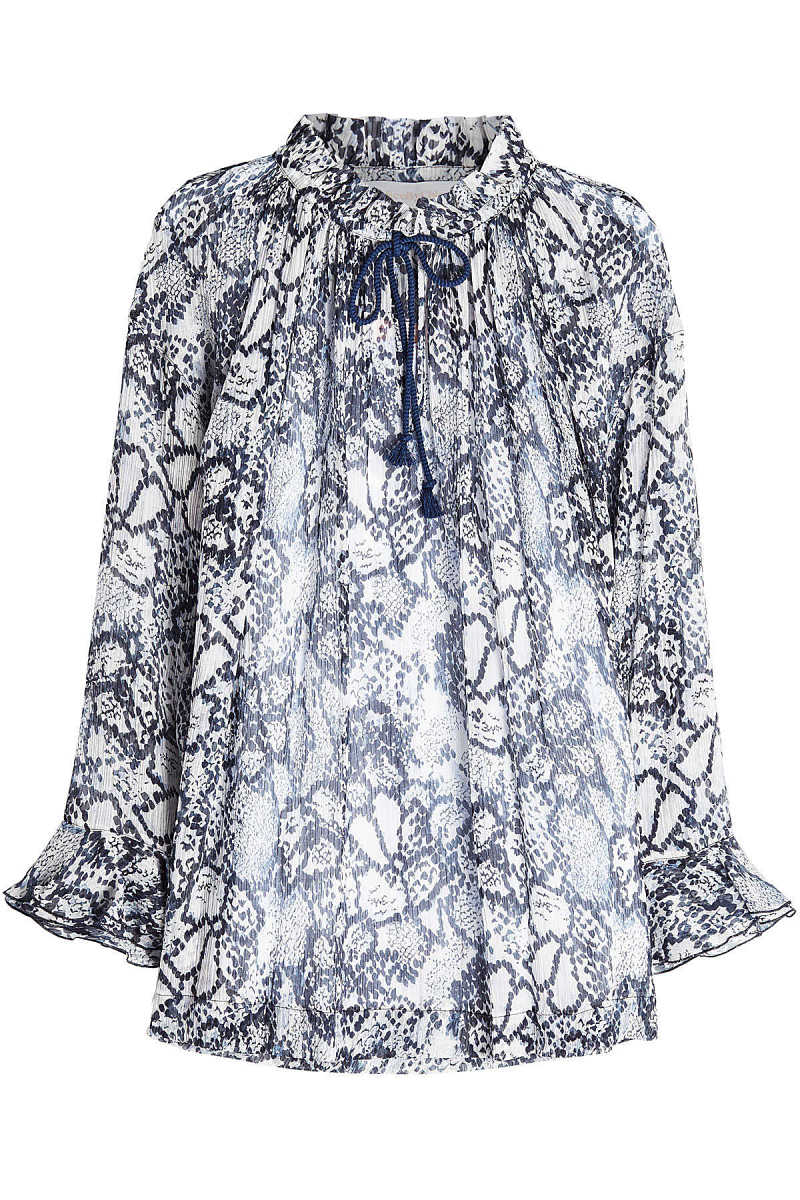 See by Chloé Flower Python Printed Blouse in Cotton and Silk GOOFASH 284087
