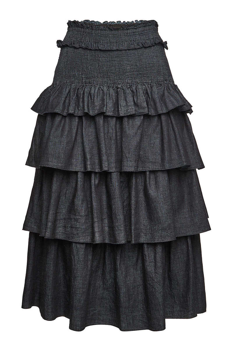 See by Chloé Tiered Skirt with Smocked Waist GOOFASH 299880