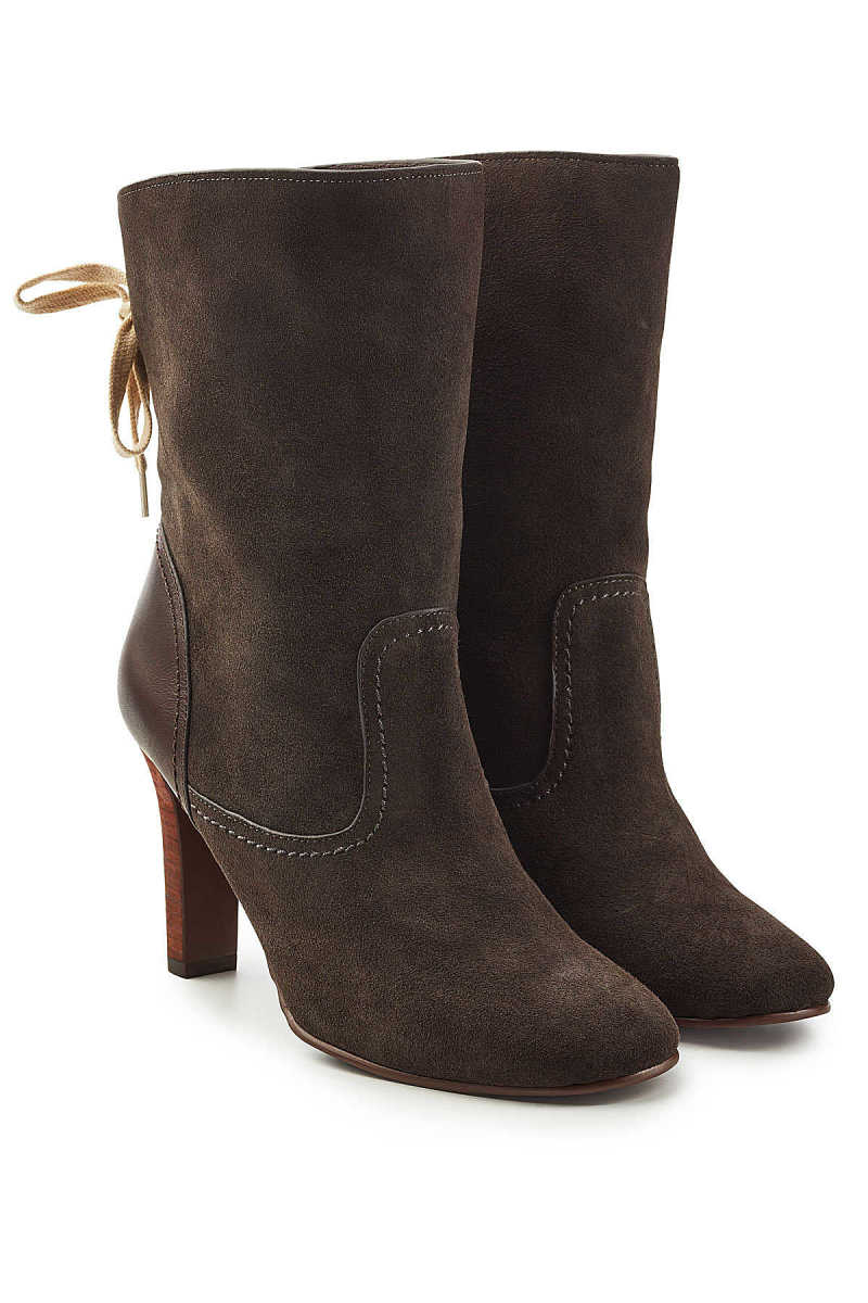 See by Chloé Yvonne Suede Ankle Boots GOOFASH 292283
