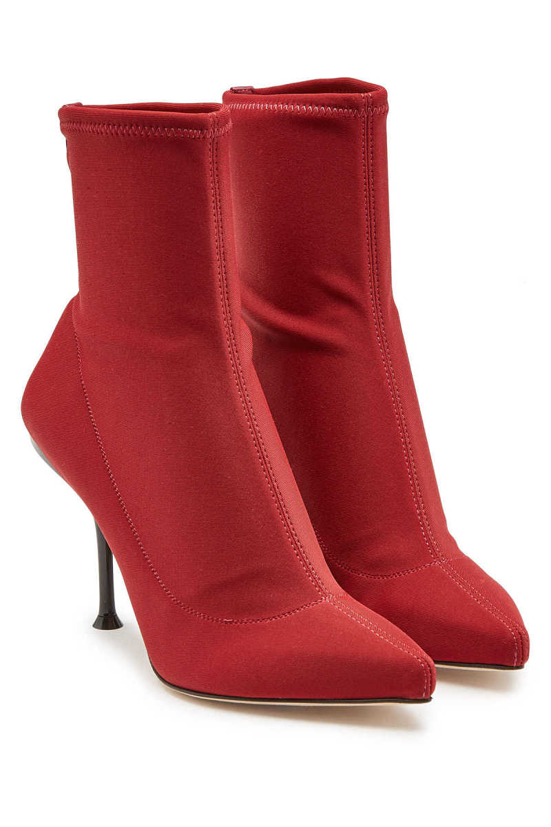 Sergio Rossi Ankle Boots with Leather GOOFASH 287962