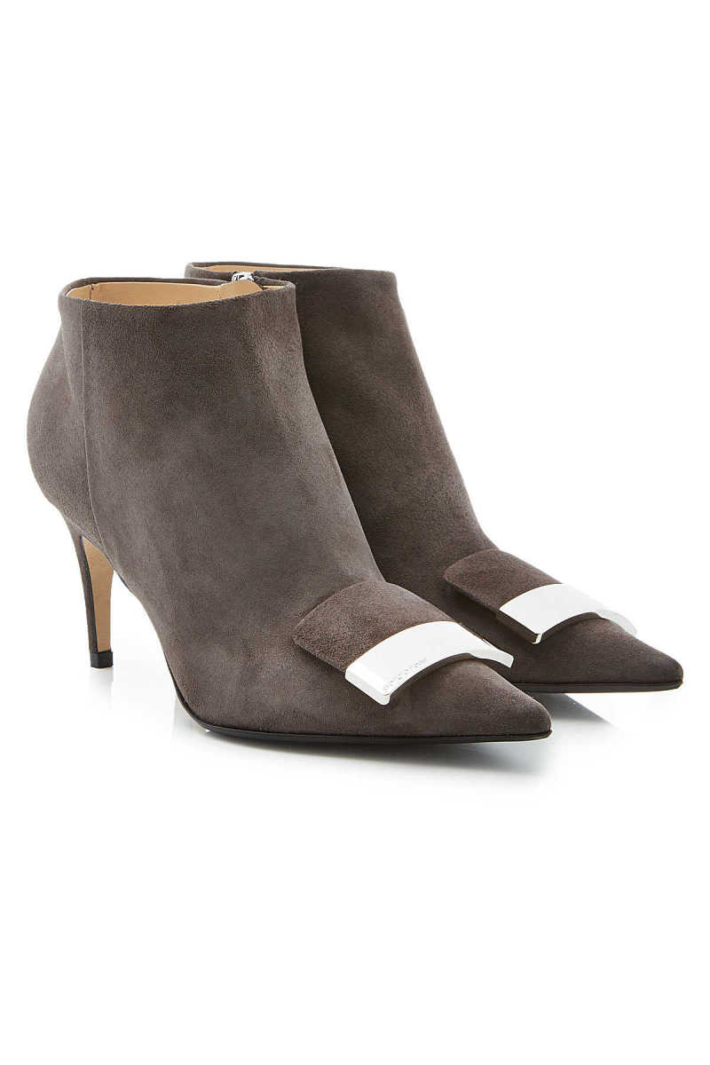 Sergio Rossi Suede Ankle Boots GOOFASH 287970