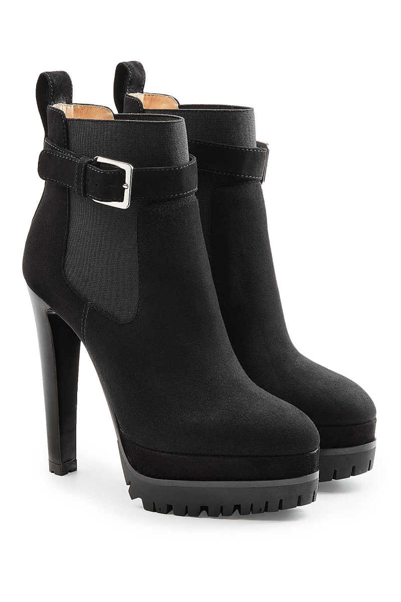 Sergio Rossi Suede Ankle Boots with Gripped Sole GOOFASH 271841