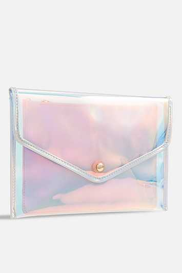 Silver Holographic Clear Bag By Koko Couture - Silver - Topshop - GOOFASH - 602019001323300