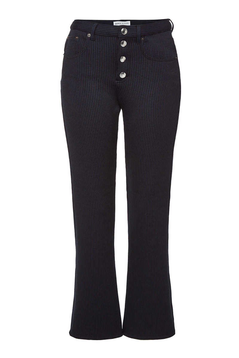 Sonia Rykiel Striped Pants with Wool and Cotton GOOFASH 291129