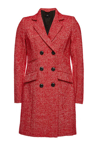 Steffen Schraut Double-Breasted Coat with Wool GOOFASH 290986