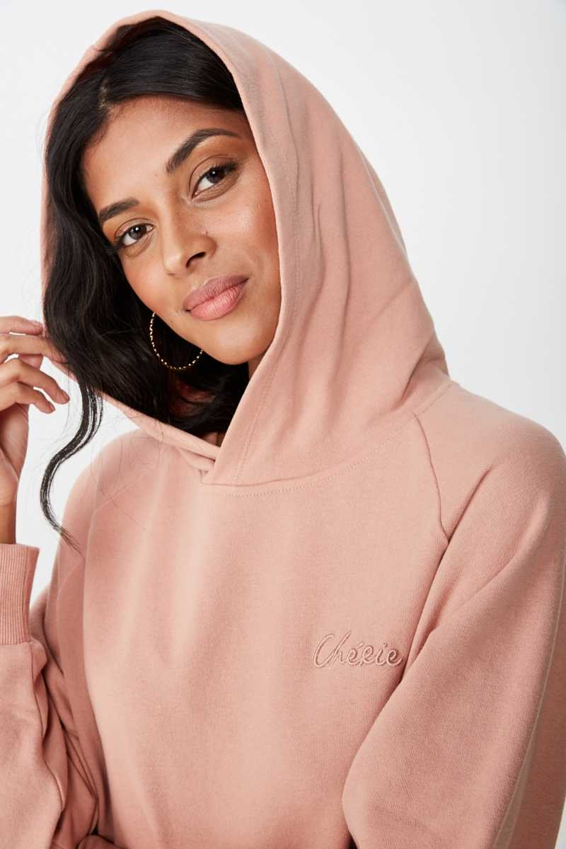 Supré - Adele Draw String Sweat - Vintage pink/cherie - Cotton On - GOOFASH