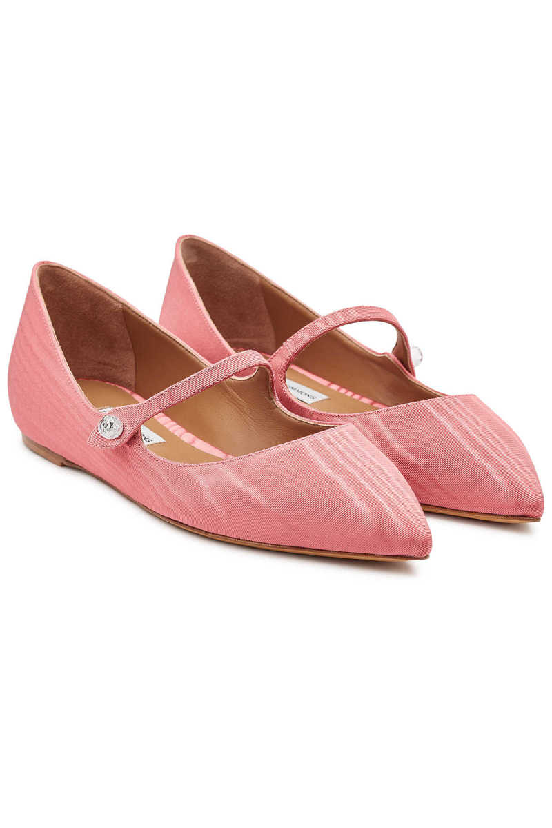 Tabitha Simmons Hermione Ballerinas with Leather GOOFASH 299572