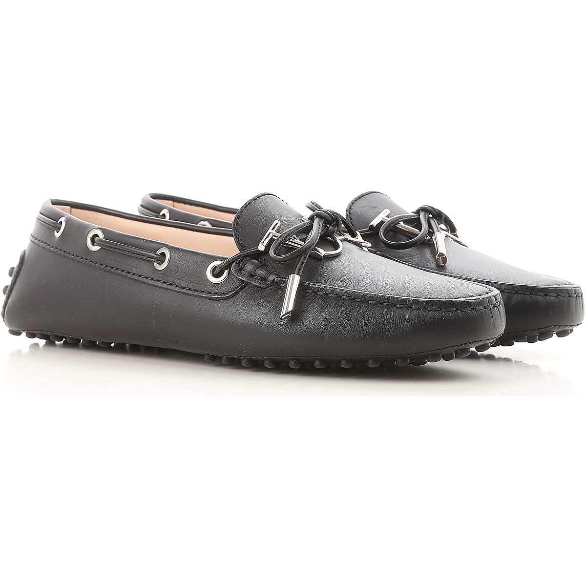 Tods Loafers for Women On Sale, Black