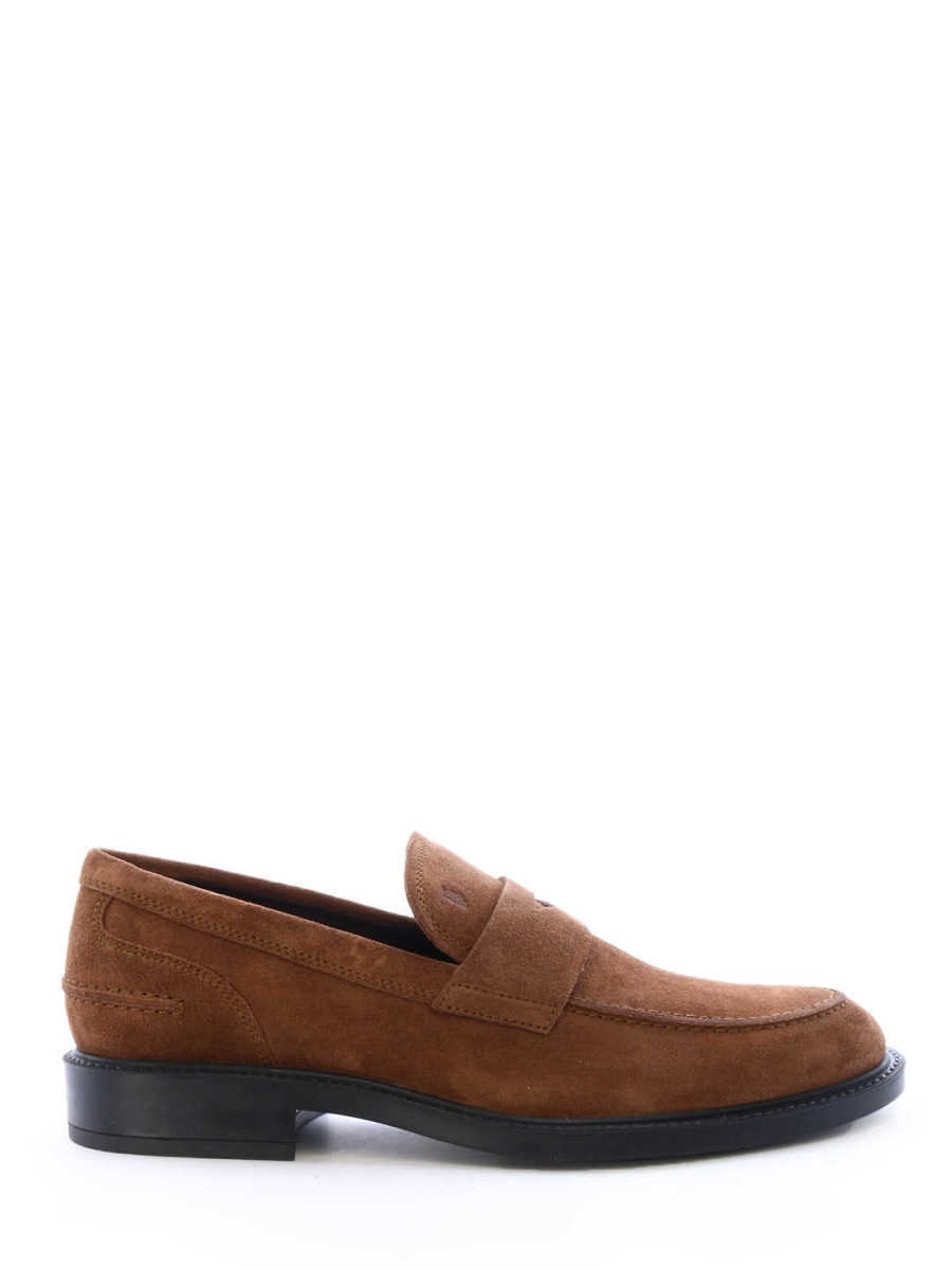 Tod's Mocassin Suede Brown Brown - Leam - GOOFASH