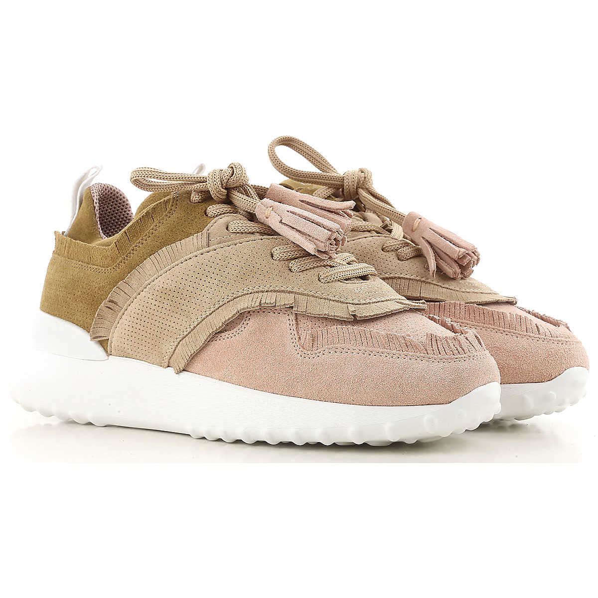 Women On Sale, Pink, Suede leather