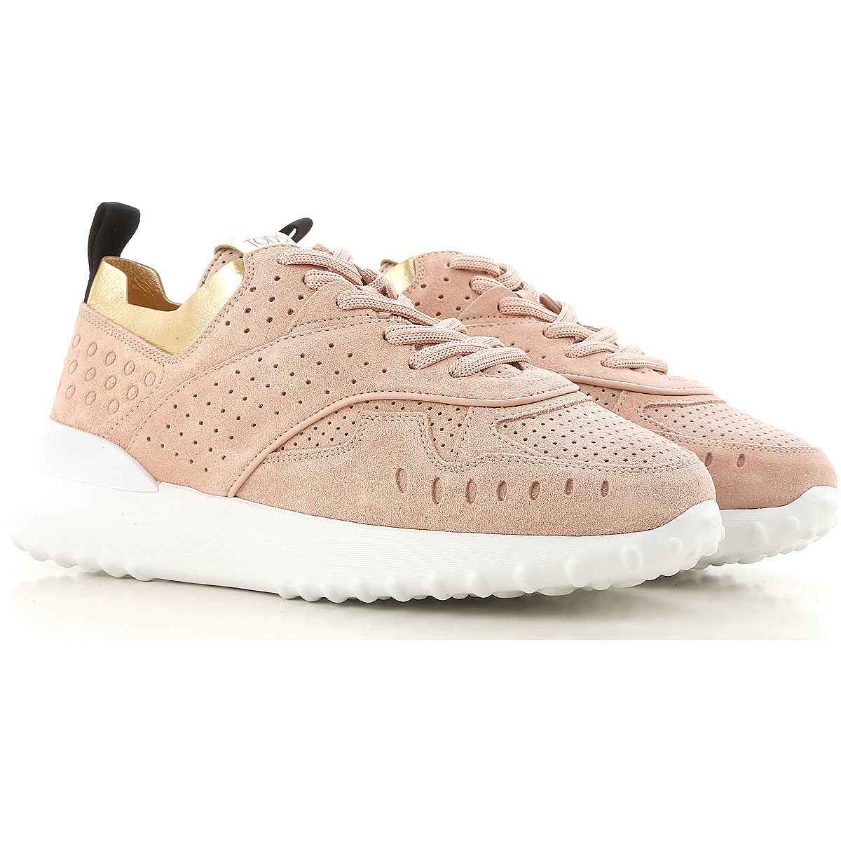 Tods Sneakers for Women, Rose, Suede