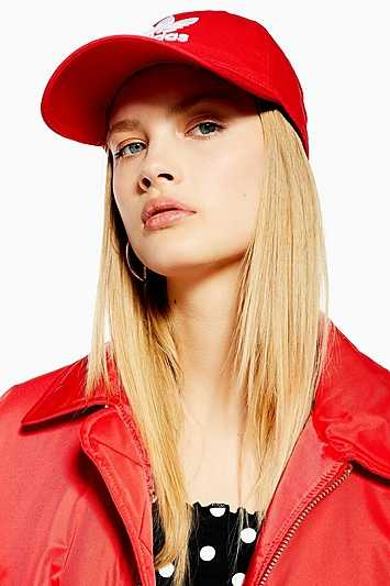 Trefoil Cap By Adidas - Red - Topshop - GOOFASH - 602018001260981
