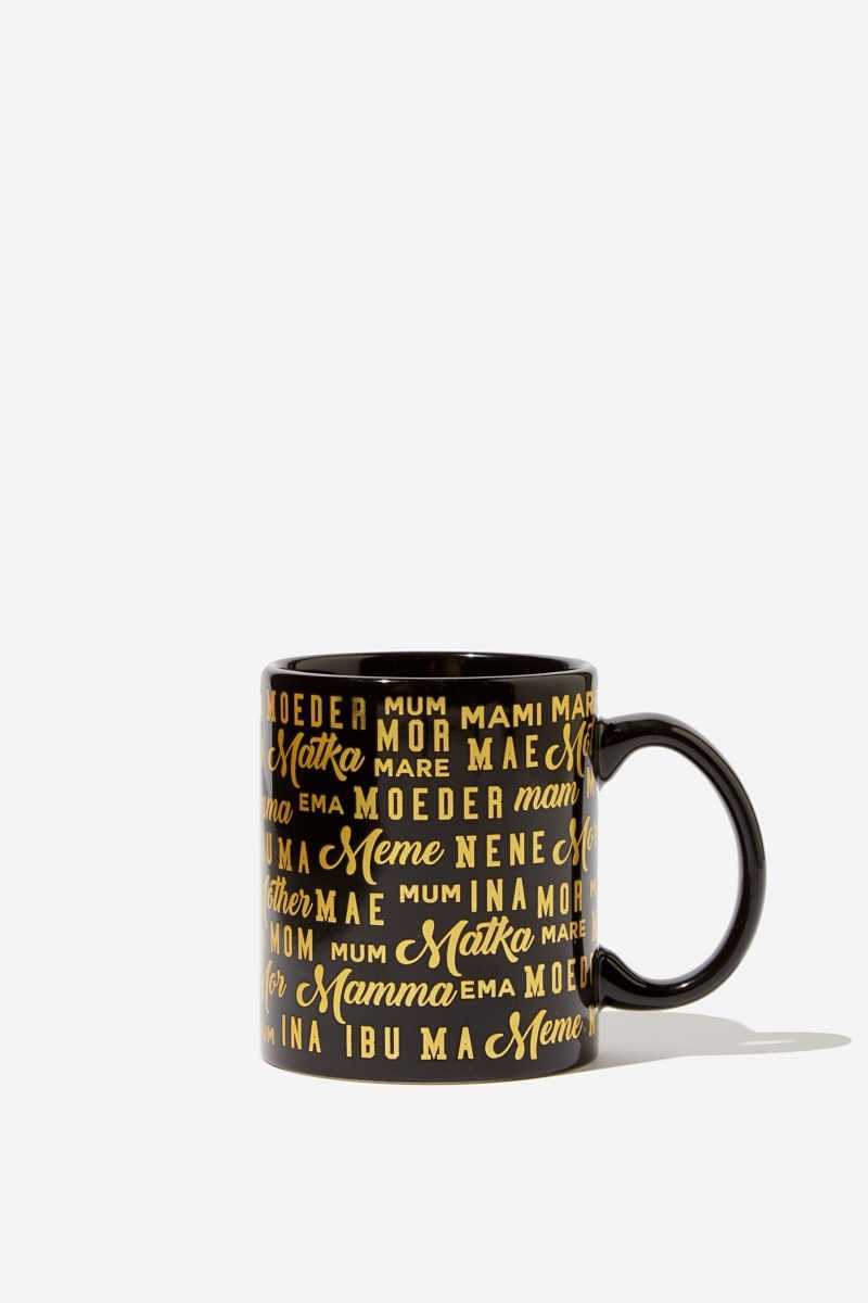 Typo - Anytime Mug - World mother gold - Cotton On - GOOFASH