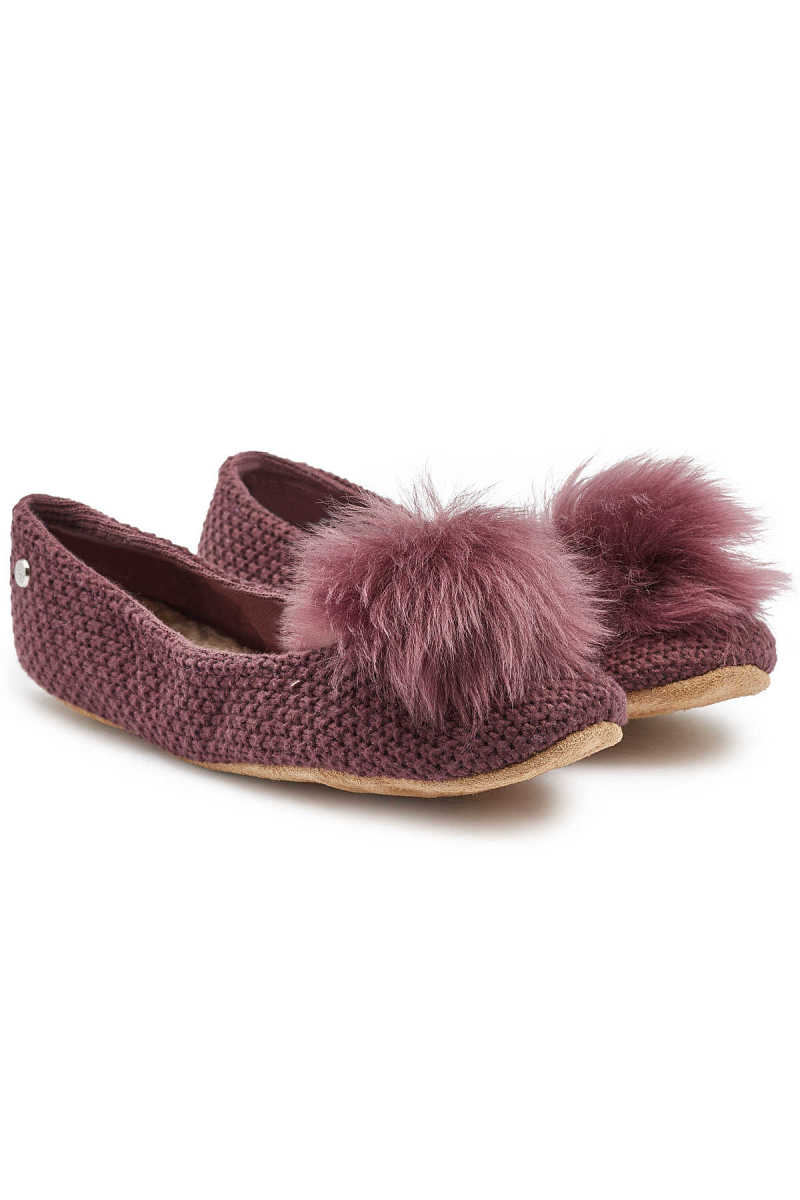 UGG Andi Slippers with Sheepskin and Leather GOOFASH 294136