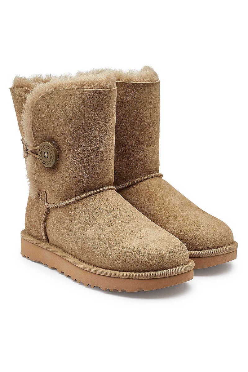 UGG Mini Bailey Button Shearling Lined Suede Boots GOOFASH 294120