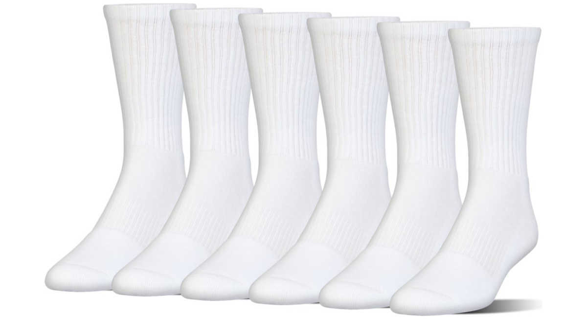 Under Armour Charged Cotton® 2.0 Kids socks 6 pairs White GOOFASH 302985