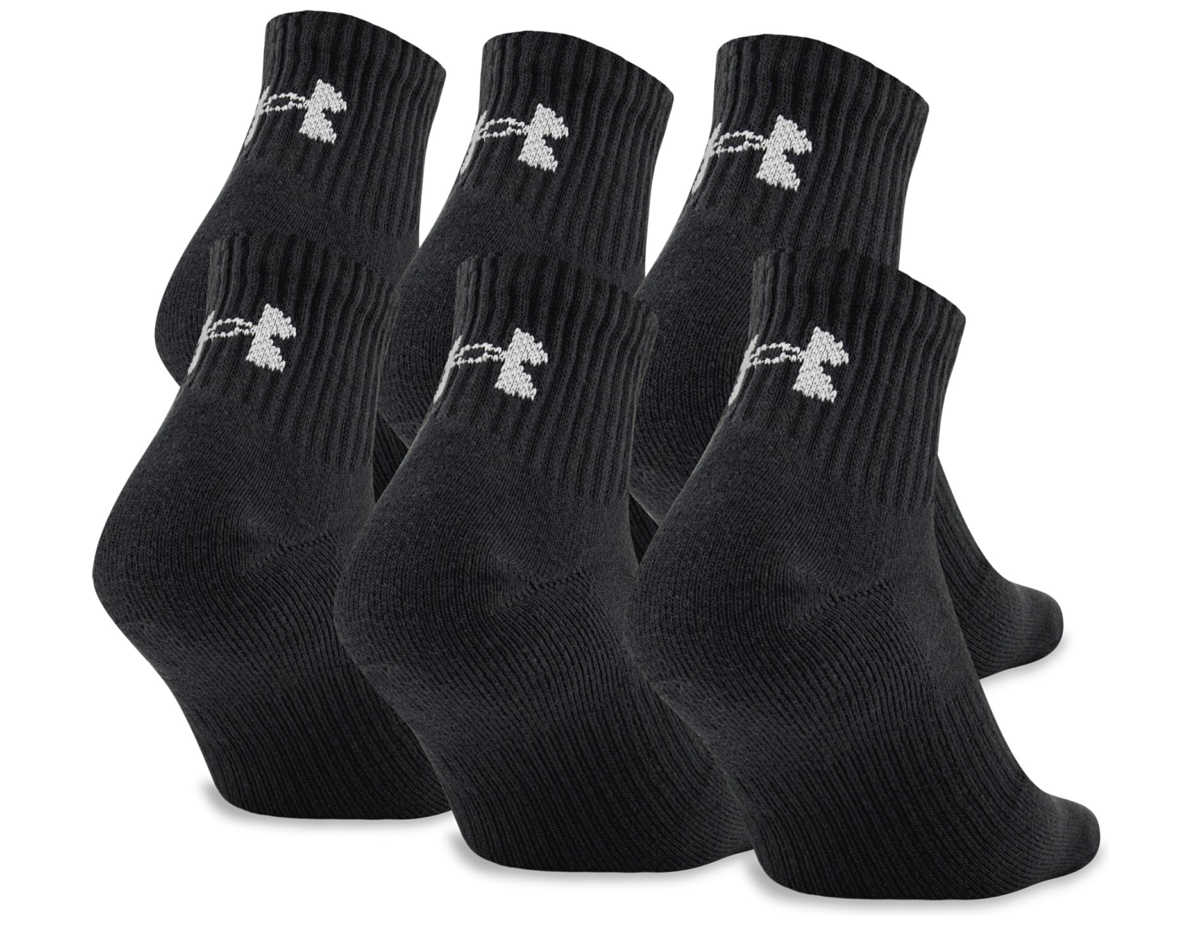 Under Armour Charged Cotton 2.0 Set of 6 pairs of socks Black GOOFASH 265089