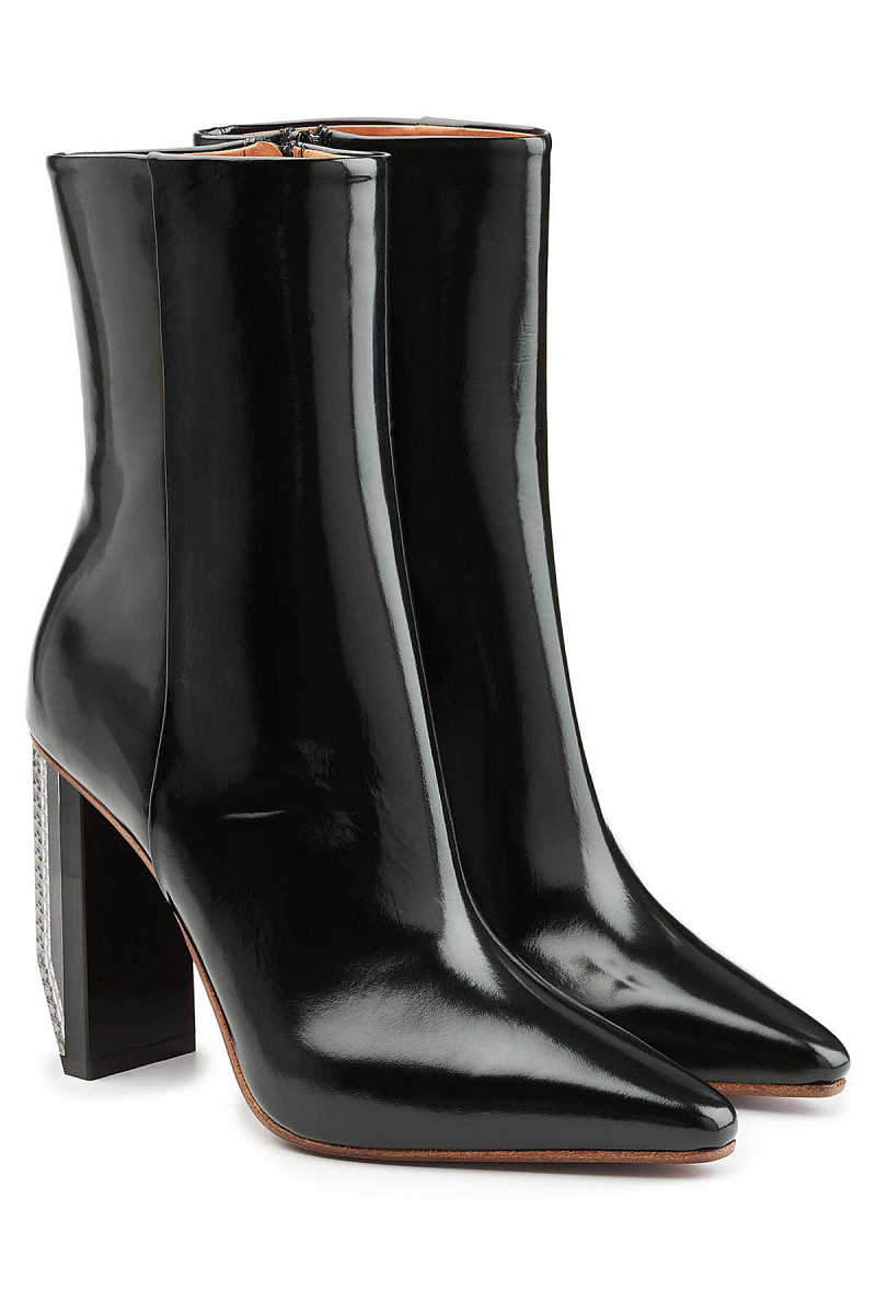 Vetements Patent Leather Ankle Boots GOOFASH 267575