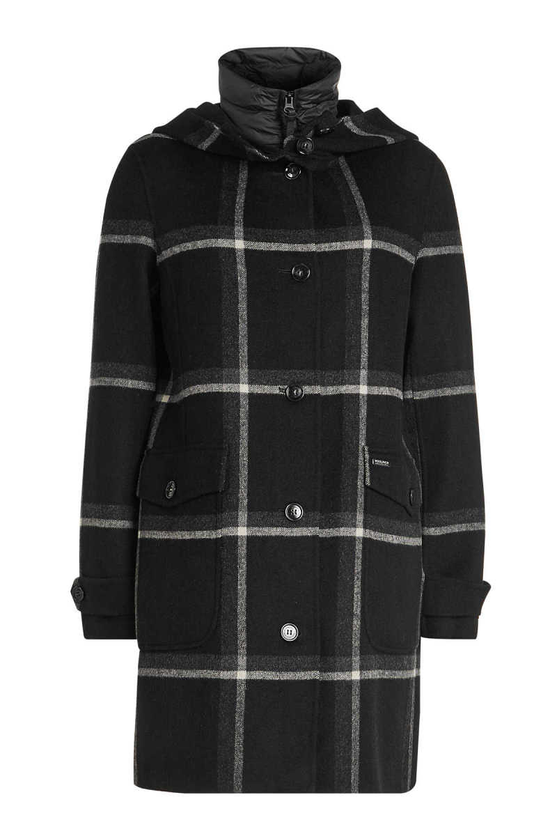 Woolrich Marcy Wool Coat with Quilted Vest GOOFASH 292501