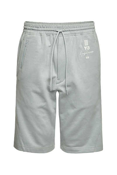 Y-3 Cotton Drawstring Shorts GOOFASH 299846