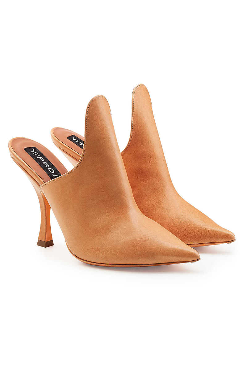 Y/Project Leather Mules GOOFASH 276841