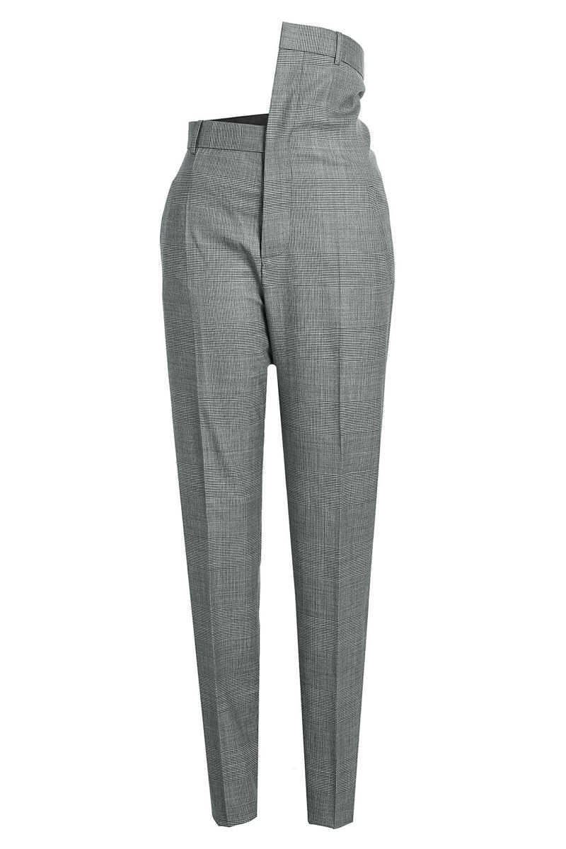 Y/Project Wool Pants with Asymmetric Waistband GOOFASH 291755