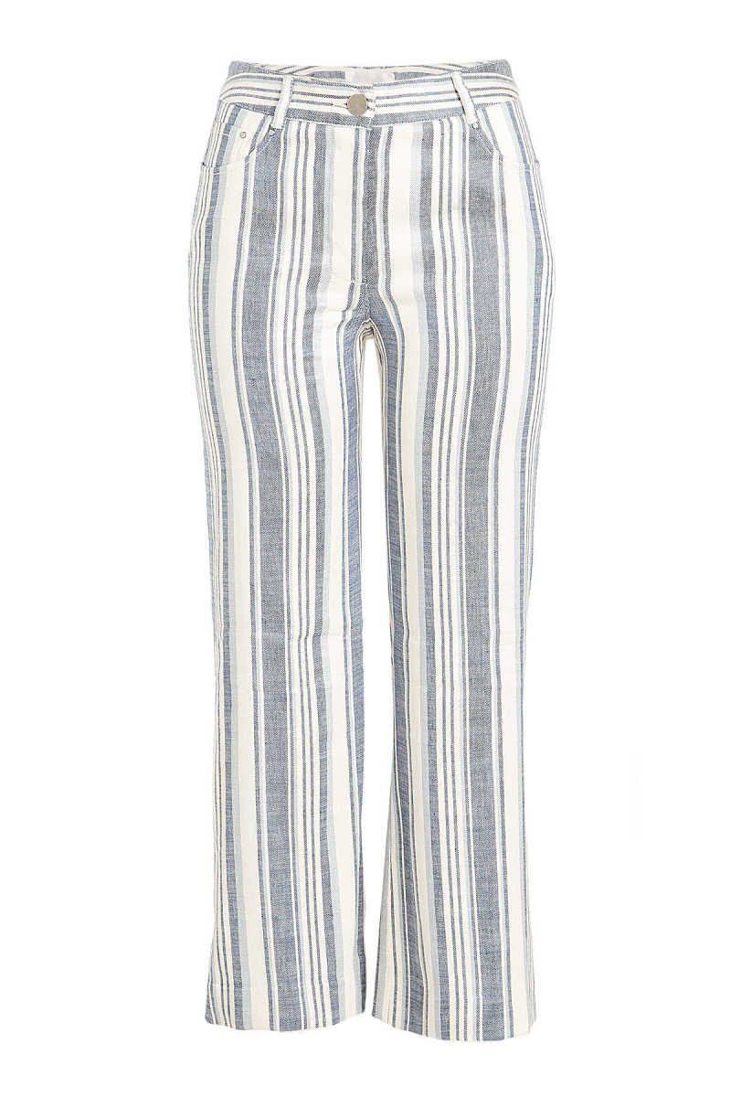 Zimmermann Striped Cropped Trousers GOOFASH 283308
