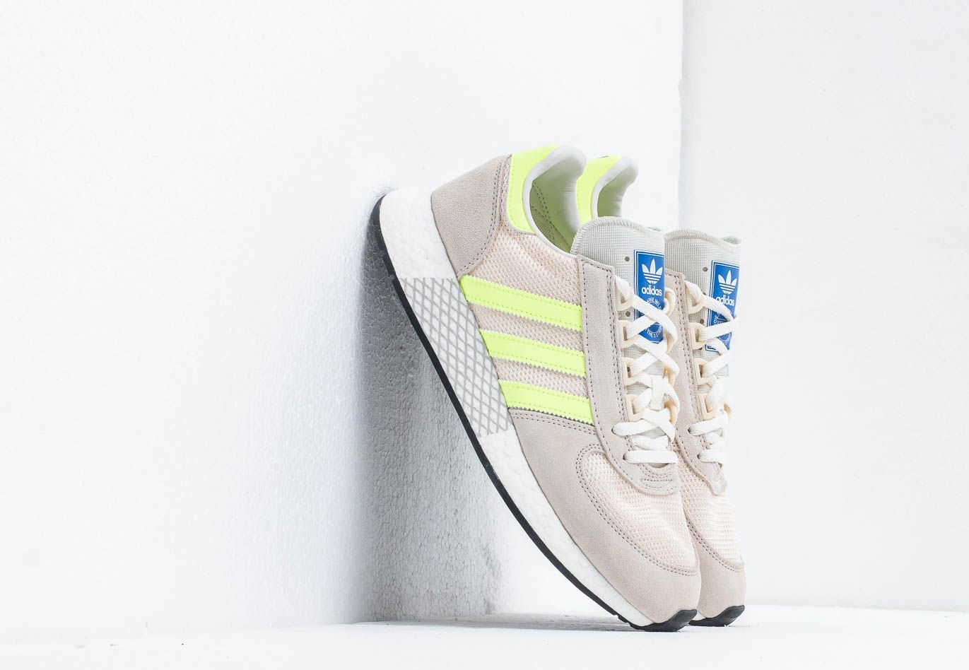 lucha Email hará  adidas Marathon Tech Clear Brown/ Hi-Res Yellow / Ecru Tint Footshop –  GOOFASH