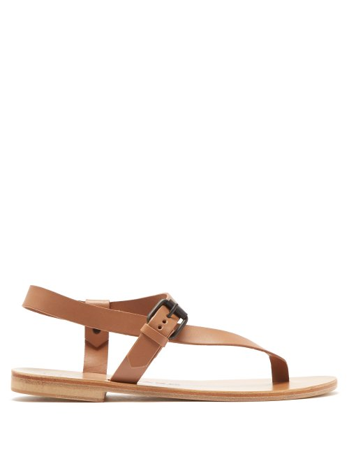 Álvaro - Andreina Leather Sandals - Beige Beige - Matches Fashion - GOOFASH