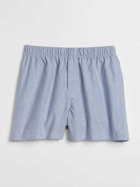"4.5"" Oxford Boxers Lt. Blue Oxford - Gap - GOOFASH"